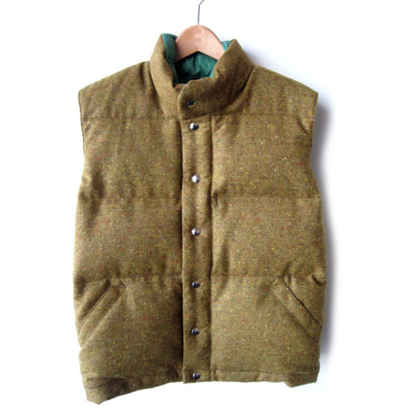 A tweed down vest