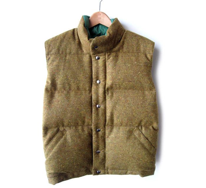 A tweed down vest