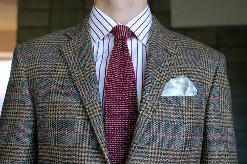 Some astonishing derring-do in this combination of shirt, tie, coat and pocket square