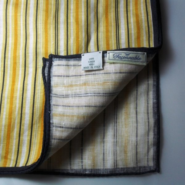 It's On Ebay - Faconnable Linen Pocket Square