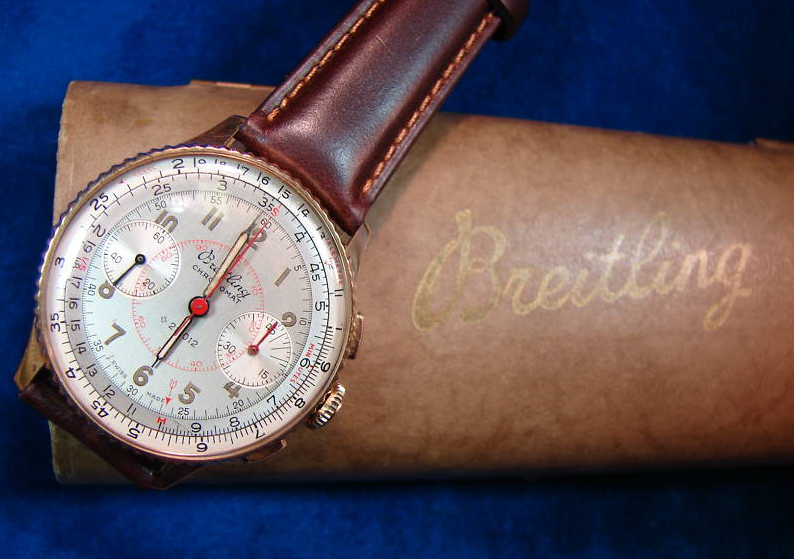It's On Ebay! 1946 Breitling Chronograph in 18K Gold
