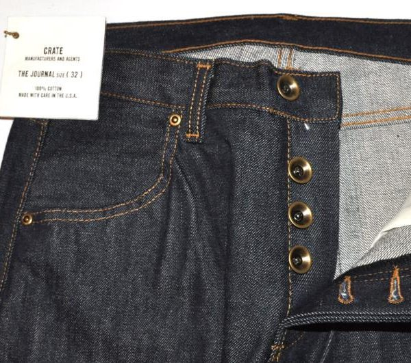 "It's On Ebay - <i>Crate ""Journal"" raw denim jeans.</i>"