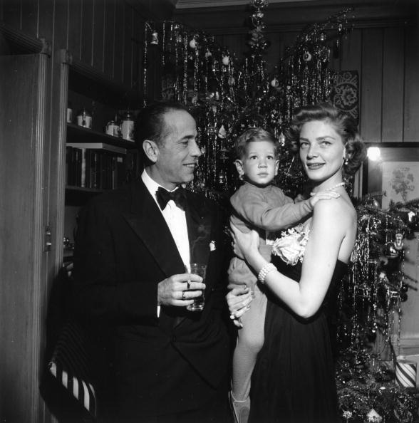 Bogart & Bacall at home on Christmas Eve