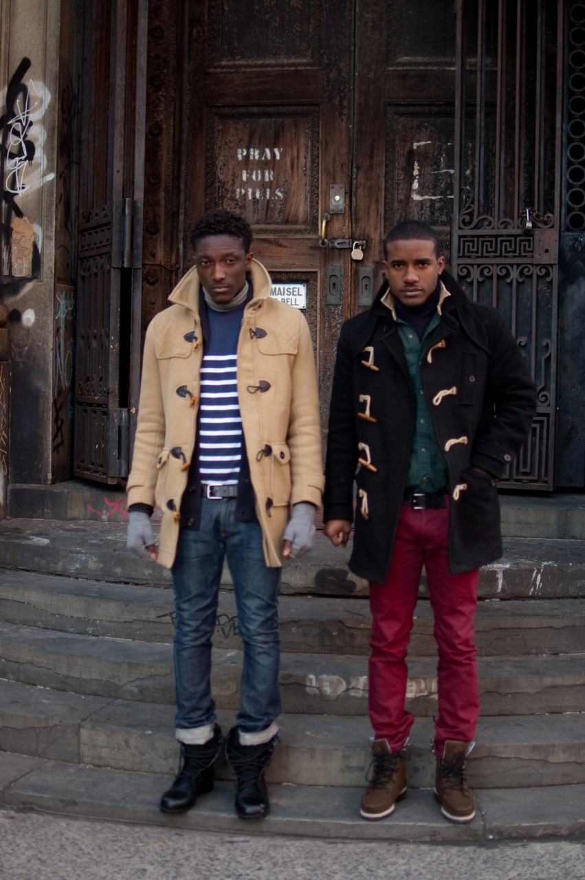 Don't the Street Etiquette guys look flyer than the rest of 'em in their duffle coats?