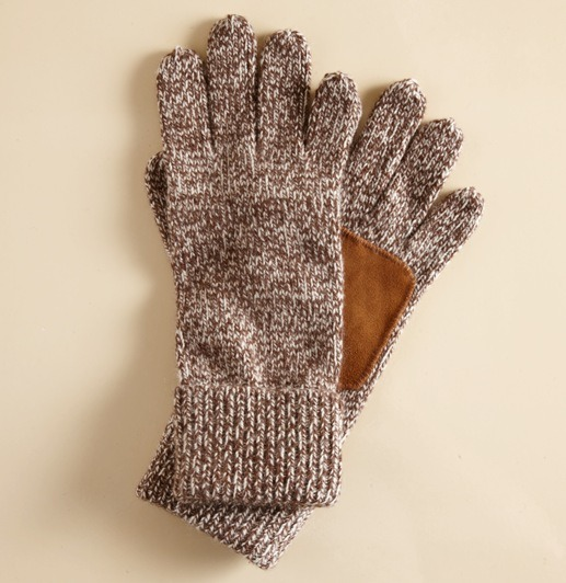 It's On Sale - Suede-palm Ragg Gloves
