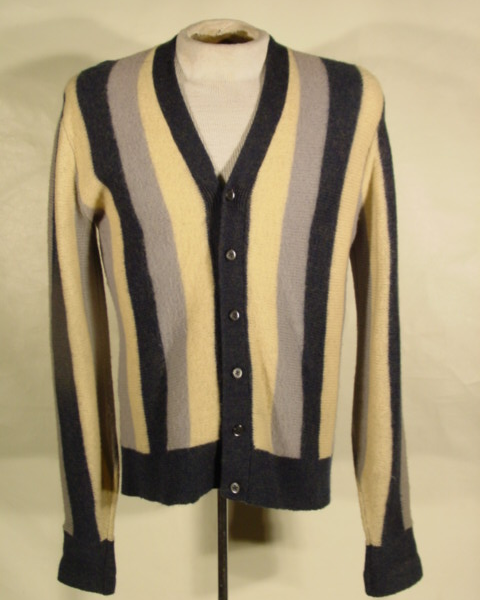It's On Ebay - Circa 1950s striped wool cardigan