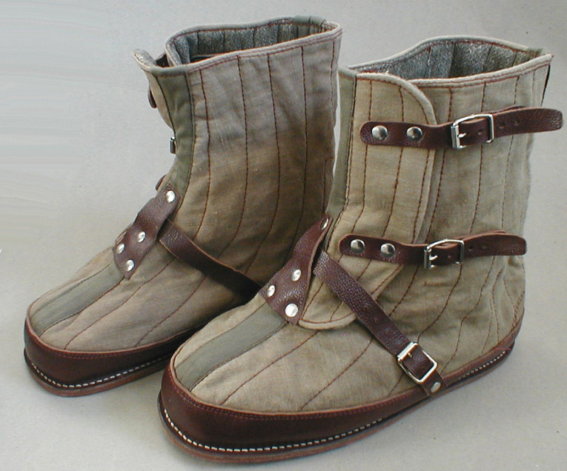 It's On Ebay Crazy Canvas / Wool Boots