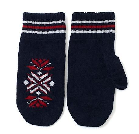 It's On Sale: Black Fleece Scottish cashmere snowflake mittens