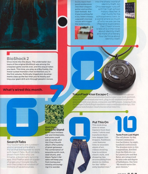 Thanks to Wired for including us in their Playlist this month