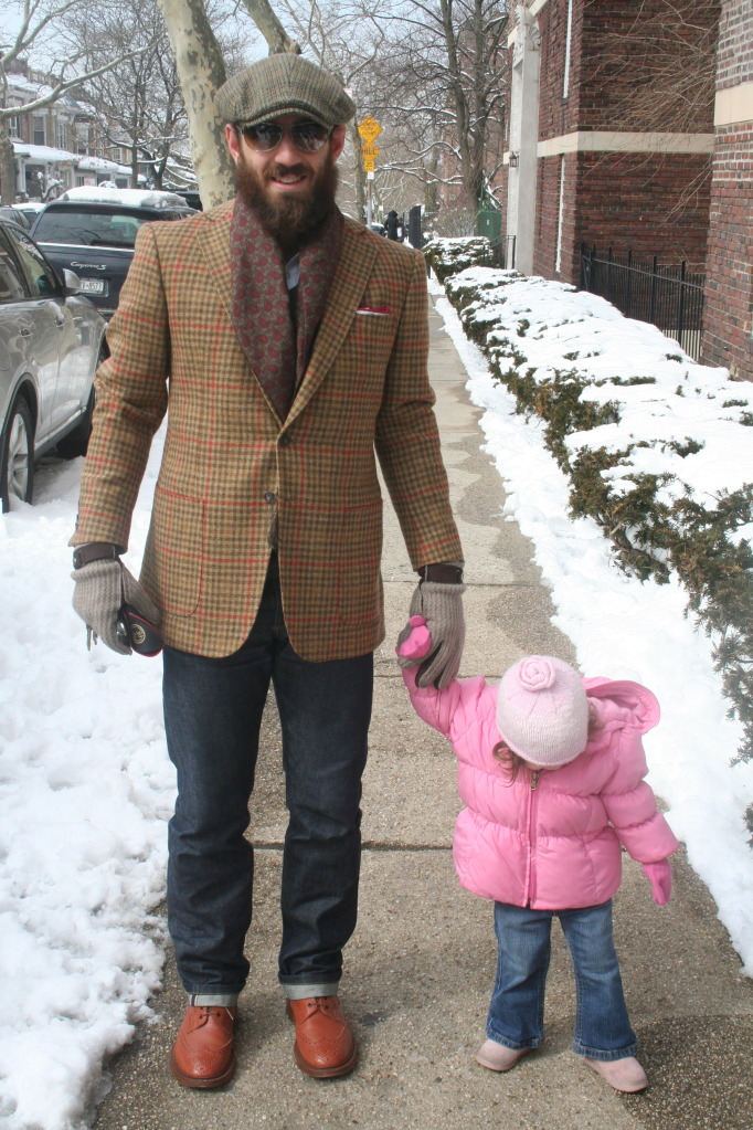 This photo, in our series of pictures of real men who dress well, is of Rob, from Brooklyn (and his adorable daughter)