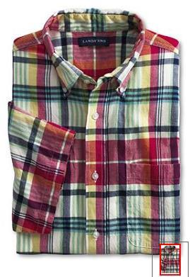 Madras shirts from Lands' End