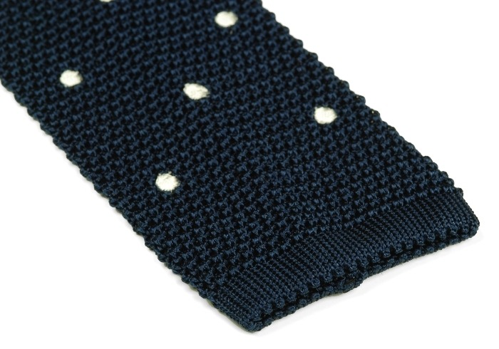It's On Sale: Navy and White Knit Tie