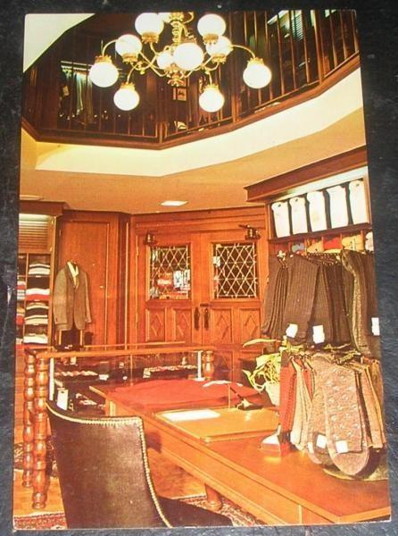It's On eBay: Vintage Postcard: San Francisco's Cable Car Clothiers