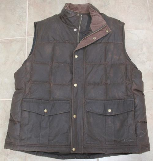 It's On eBay: L.L. Bean Waxed Cotton Down Vest
