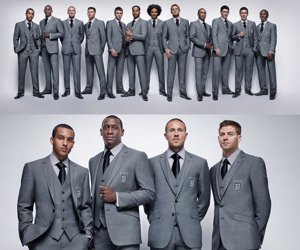 The new suits of the England national soccer team