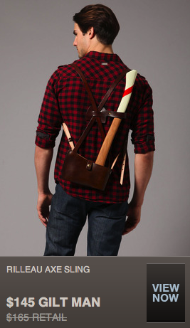 Because every stylish guy needs an easier way to carry their axe