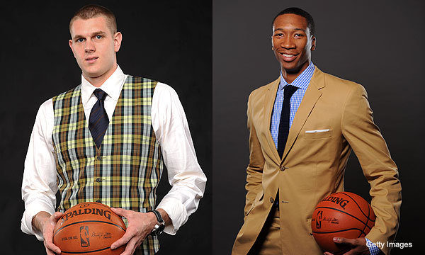 I'm not sure who should win best dressed draftee, but it's between these two