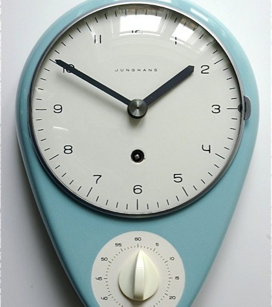 Kitchen clock with timer by Junghans