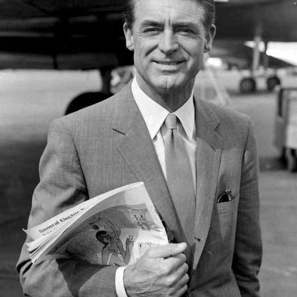 Cary Grant, dressed simply.