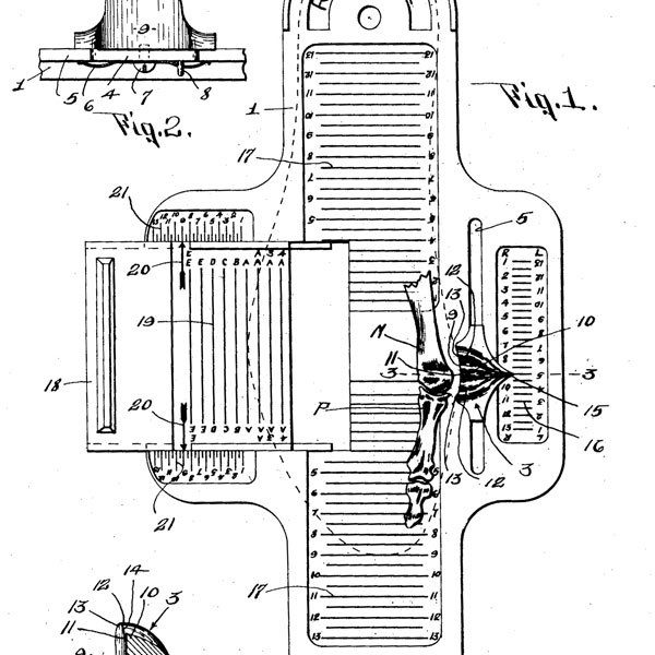 The Brannock Foot Measuring Device