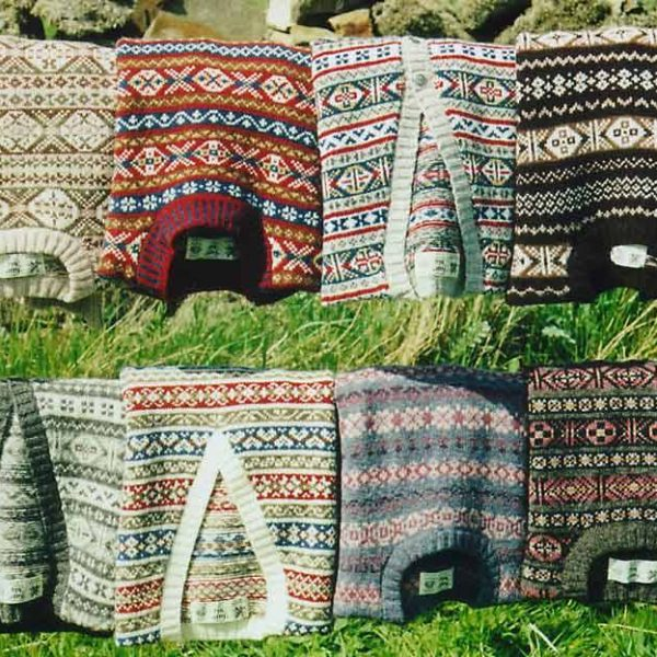 Fair Isle sweaters that are hand knit in the UK