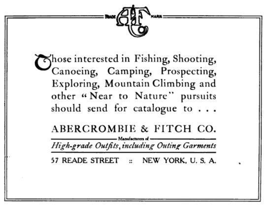 Abercrombie & Fitch catalog, circa 1907