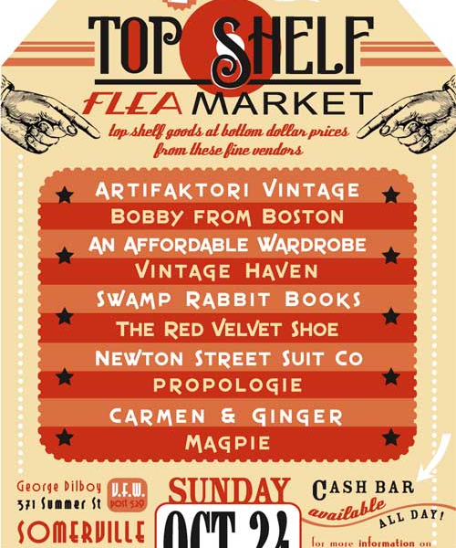 Top Shelf Flea</a> event in the Boston area on Sunday, October 24th
