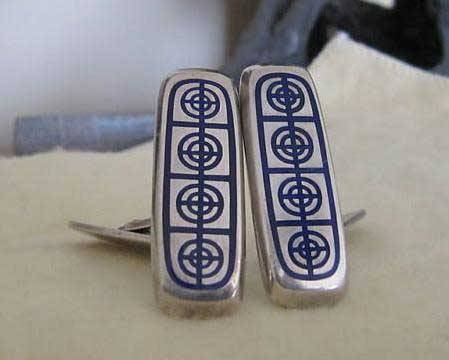 It's On eBay - Modernist Sterling Cufflinks