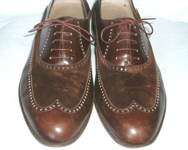It's On eBay: Wilkes Bashford Suede and Calf Wingtips