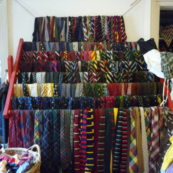 The necktie rack of RL Rugby designer Sean Crowley
