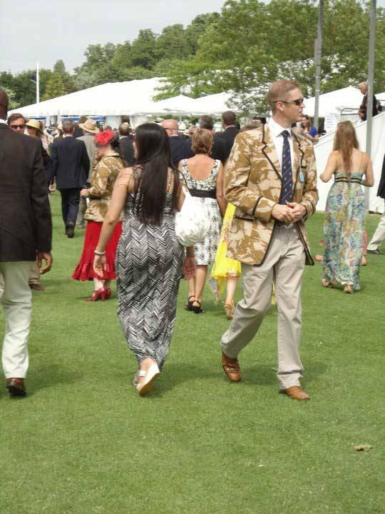 How about this camo blazer for the Henley Royal Regatta by a member of the Royal Combined Services crew team?