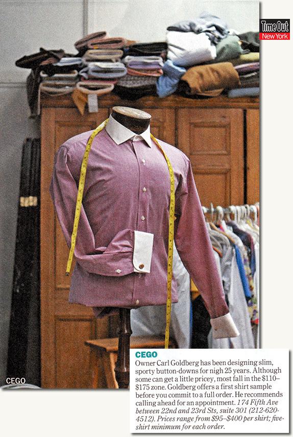 Shirtmaker, Carl Goldberg of CEGO Custom Shirts in the Flatiron district
