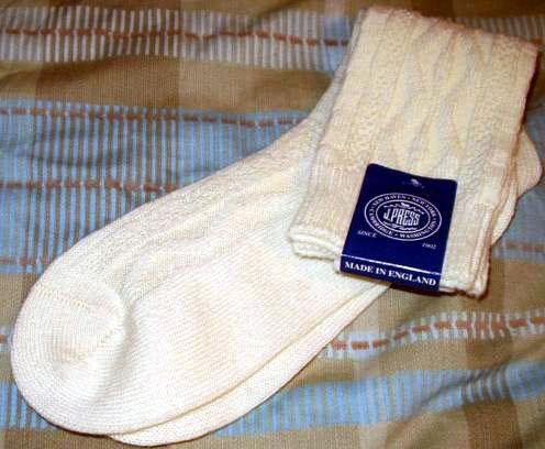 It's On eBay - J. Press Aran Cable Wool Socks