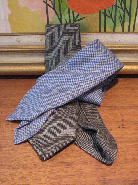 We Got It For Free: Panta Unlined Cashmere Neckties