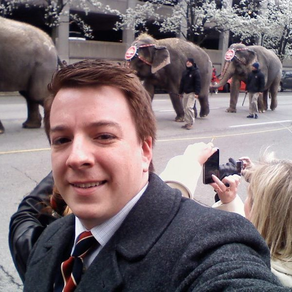 """Elephants are a big value add in a """"what I'm wearing"""" photo"""