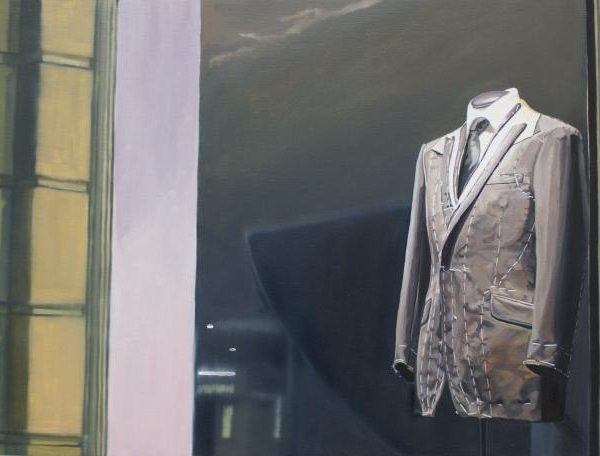 Oil paintings of Savile Row suits