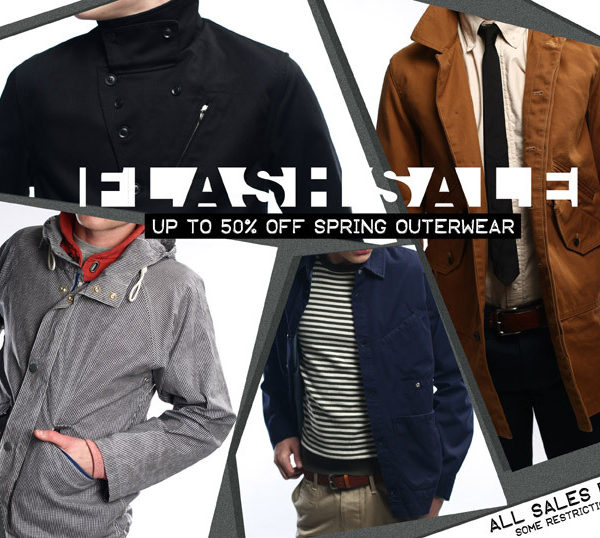 Context is having a flash sale on Spring outerwear