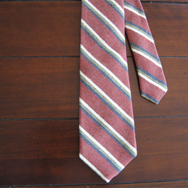 There has been a lot of buzz over raw silk ties. I'm a big, big fan.