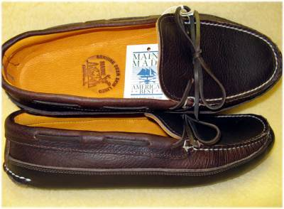 Moccasins from New England: Arrow Moccasin and Town View Leather