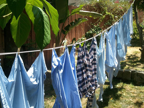 Hanging to dry is better for your shirts <em>and</em> better for mother nature