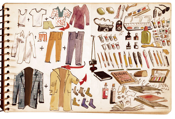 Adolf Konrad's packing list, December 16th, 1973
