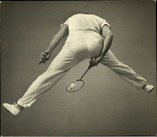 Badminton player, photographed Gjon Mili for Life Magazine in 1939