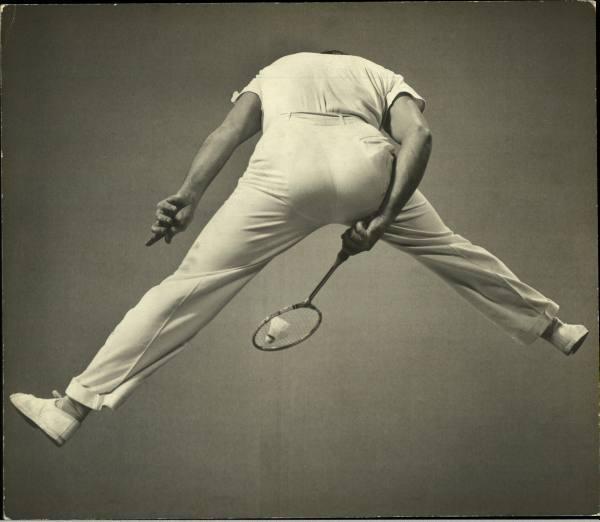 Badminton player, photographed Gjon Mili for Life Magazine in 1939