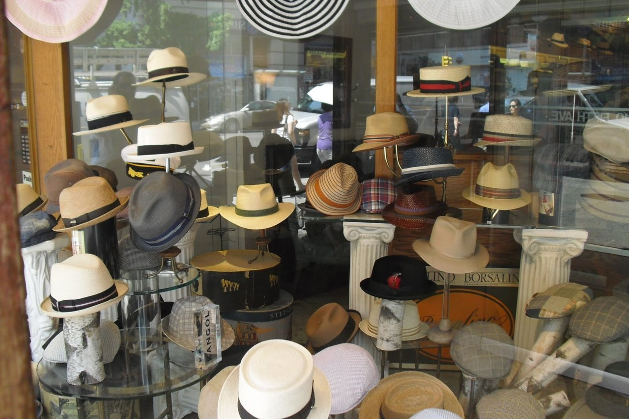 An Uptown Dandy visits JJ Hat Center in New York