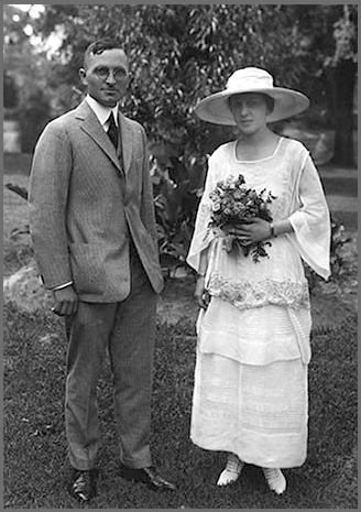 Harry S. Truman on his wedding day in 1919
