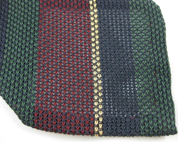 Not all grenadine ties are solid-colored