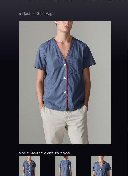 A women's pajama shirt for men