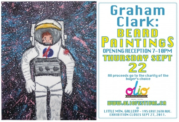 Graham Clark paints with his beard for charity