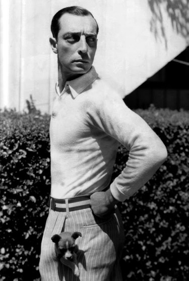 "Buster Keaton in ""College."""