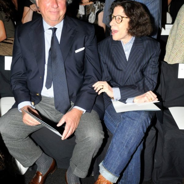Graydon Carter and Fran Leibowitz